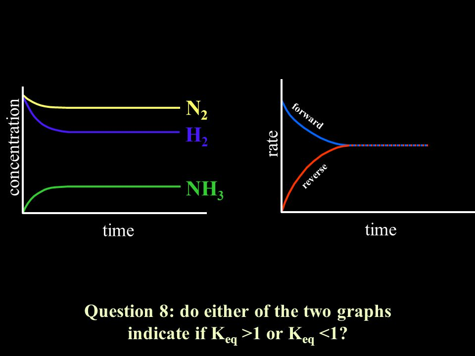 N2 H2 NH3 concentration rate time time
