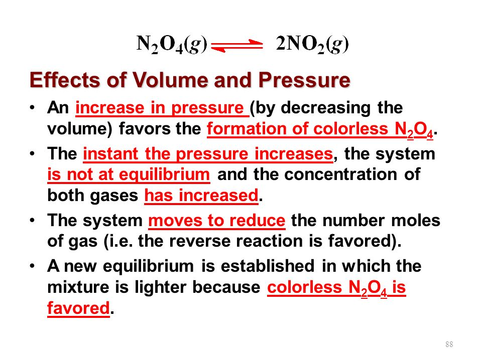 Effects of Volume and Pressure