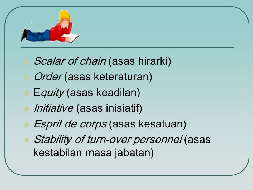 Scalar of chain (asas hirarki)