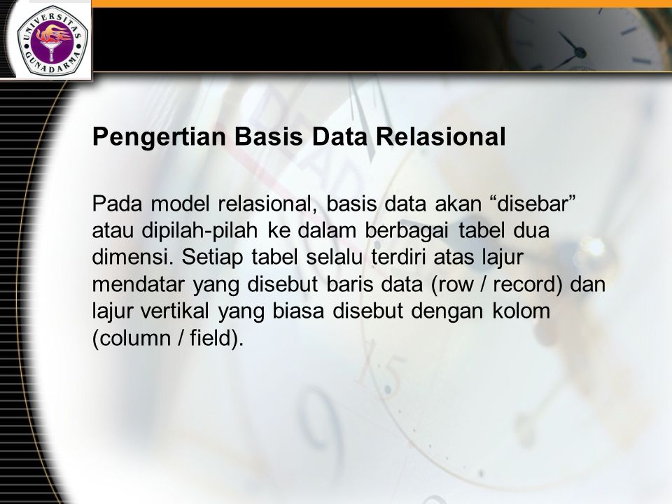 Pengertian Basis Data Relasional