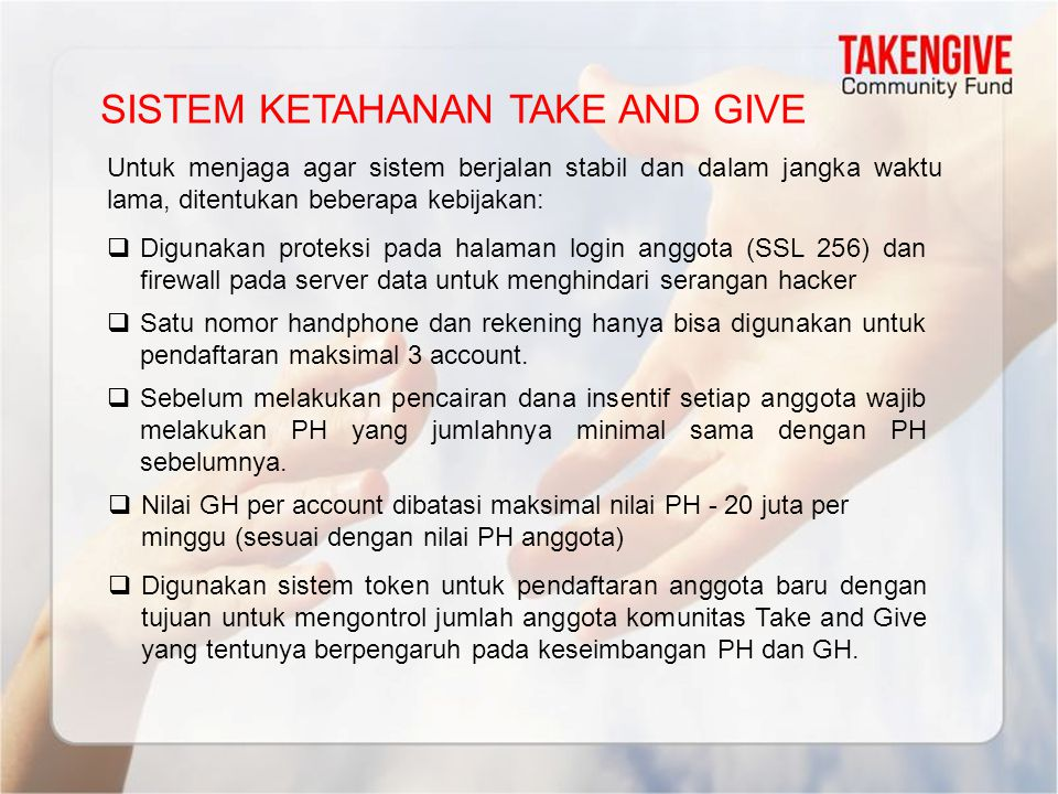 SISTEM KETAHANAN TAKE AND GIVE