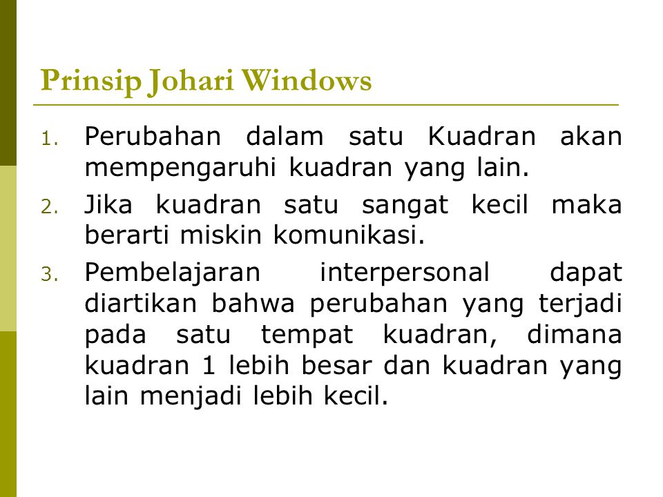 Prinsip Johari Windows