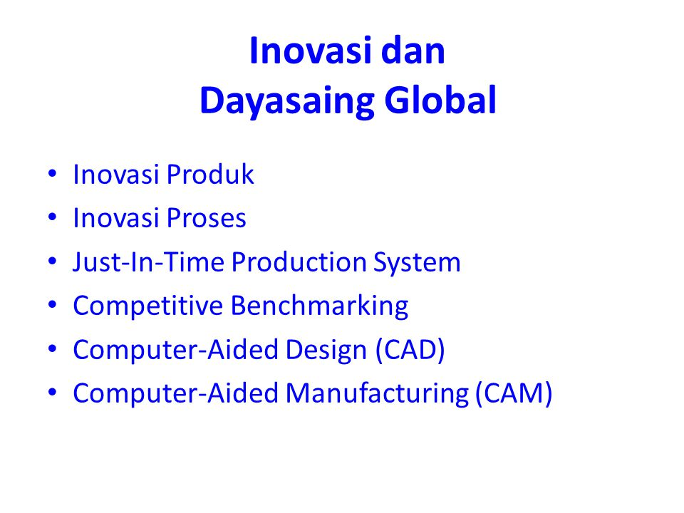 Inovasi dan Dayasaing Global