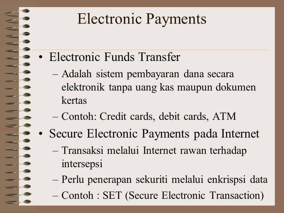 Electronic Payments Electronic Funds Transfer
