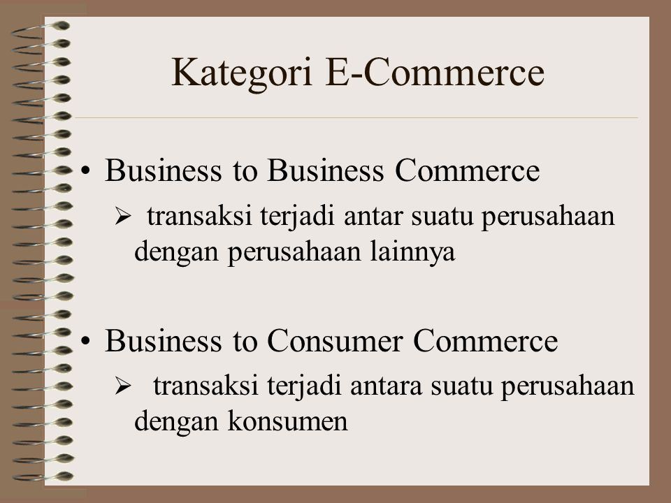Kategori E-Commerce Business to Business Commerce