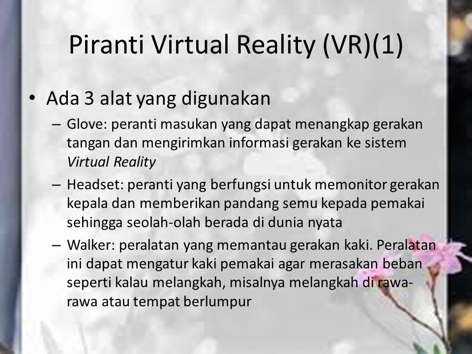 Piranti Virtual Reality (VR)(1)