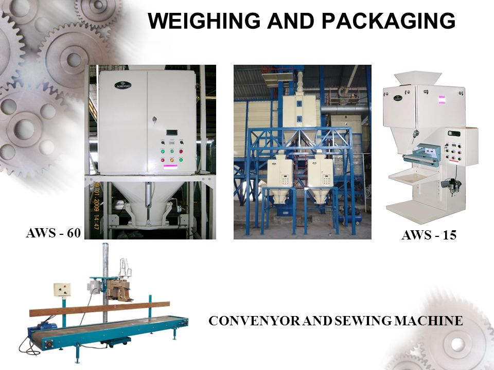 WEIGHING AND PACKAGING