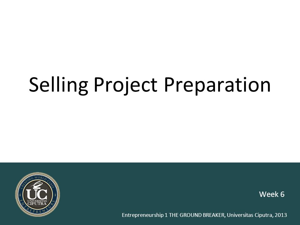 Selling Project Preparation