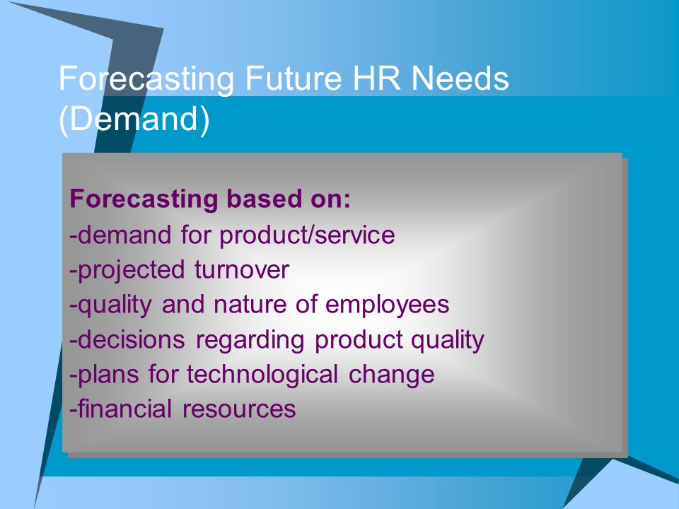 Forecasting Future HR Needs (Demand)