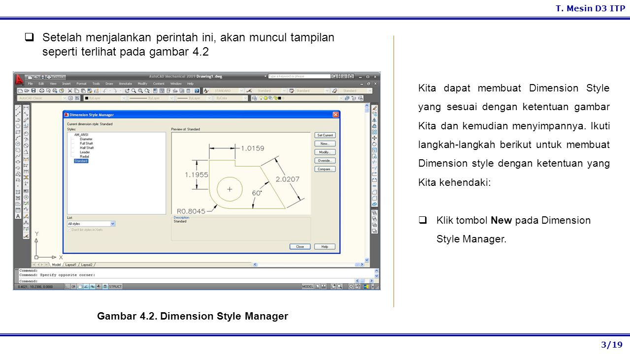 Gambar 4.2. Dimension Style Manager