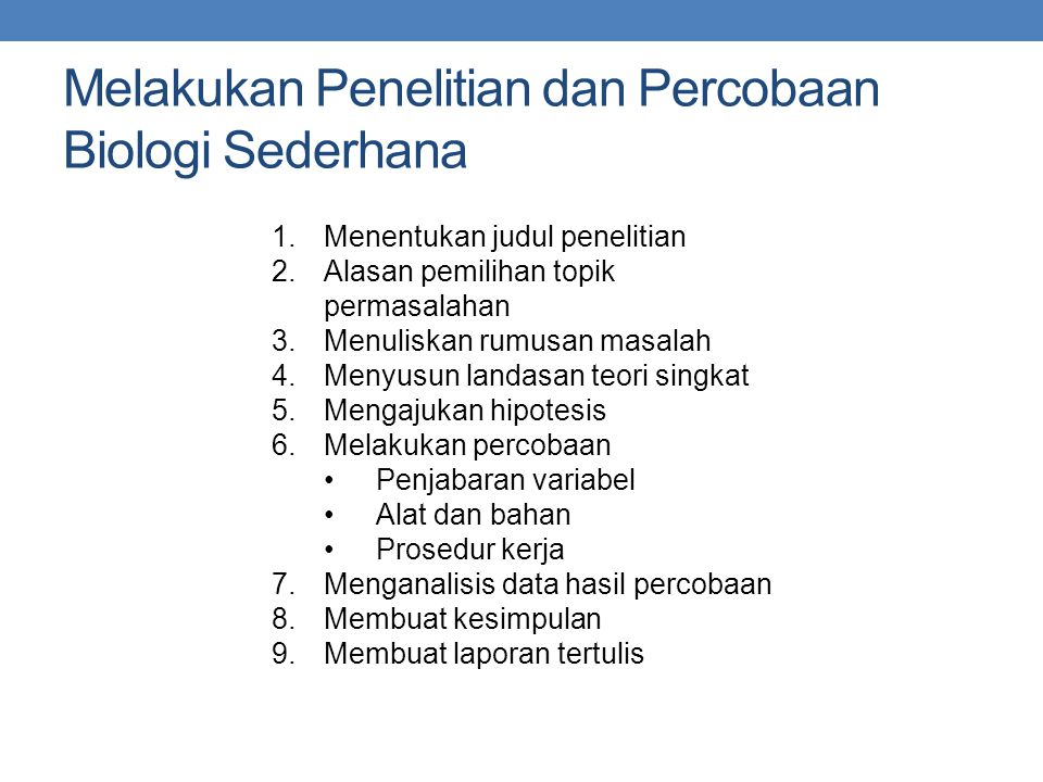 Bab 1 Ruang Lingkup Biologi Ppt Download