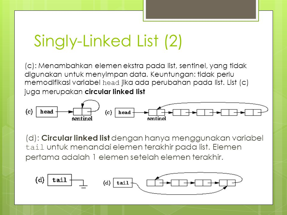 Singly-Linked List (2)