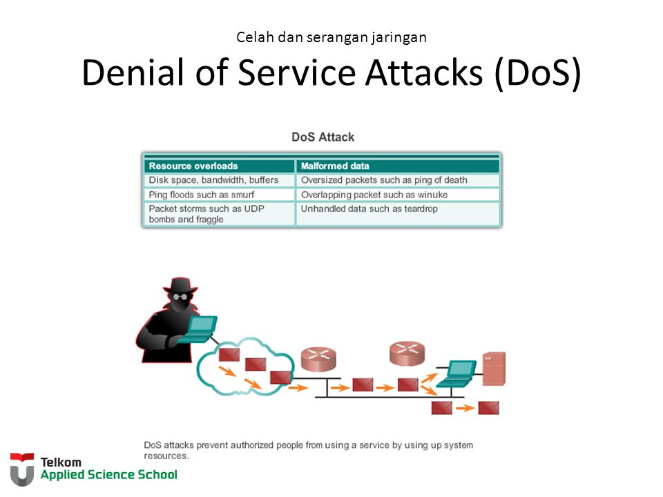 Celah dan serangan jaringan Denial of Service Attacks (DoS)
