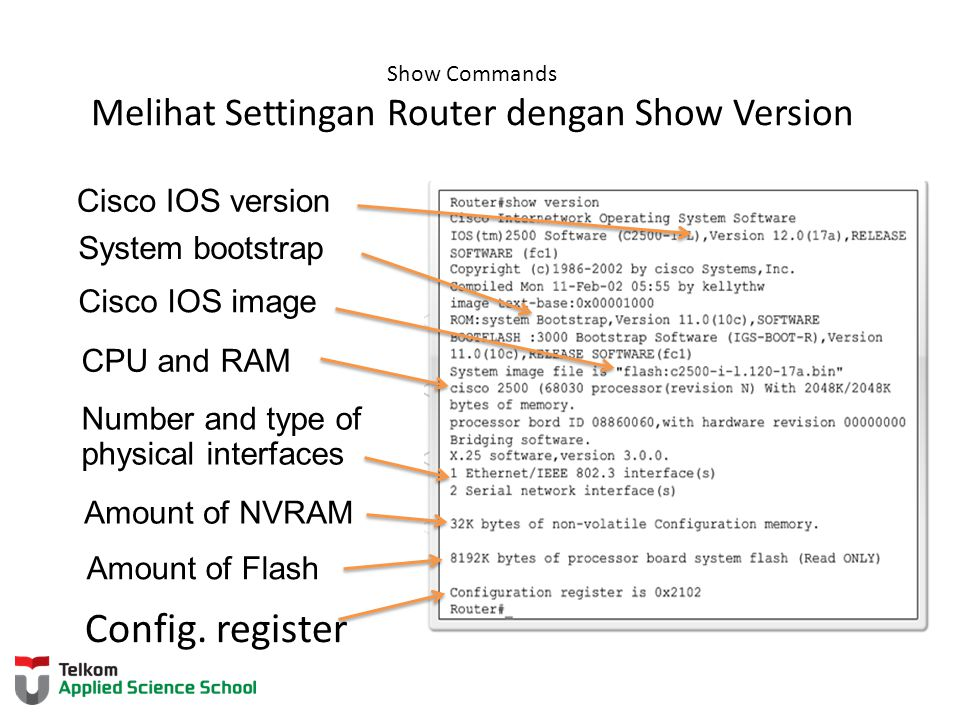 Show Commands Melihat Settingan Router dengan Show Version