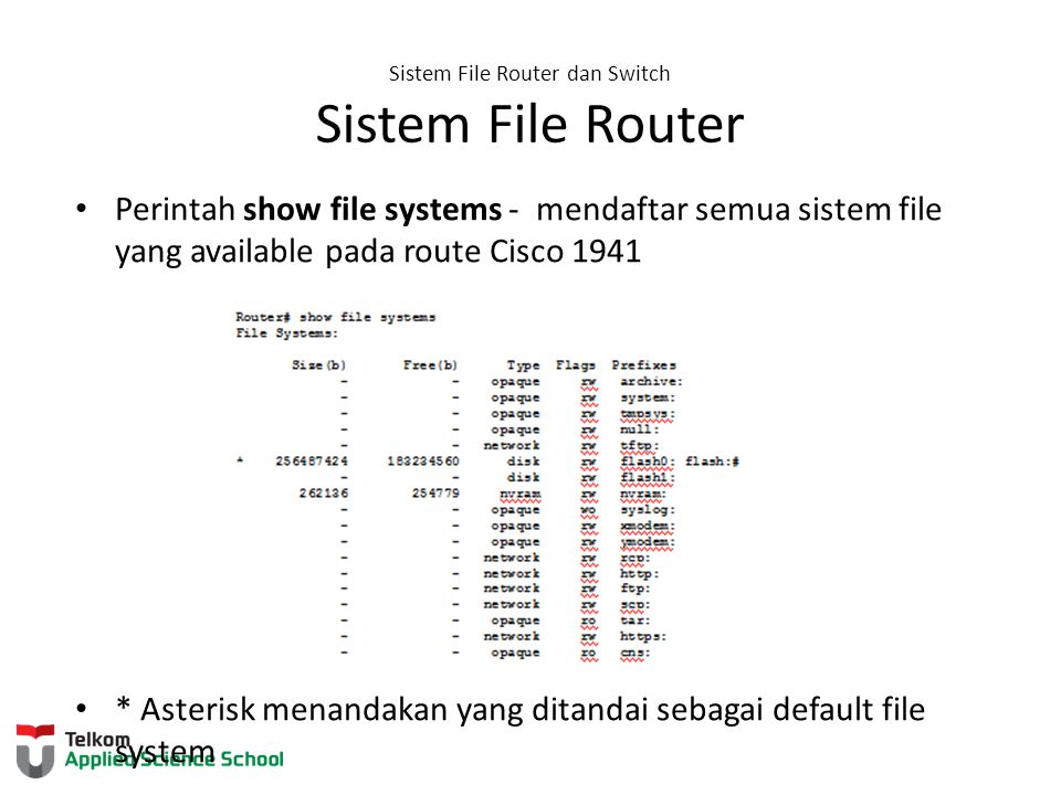 Sistem File Router dan Switch Sistem File Router