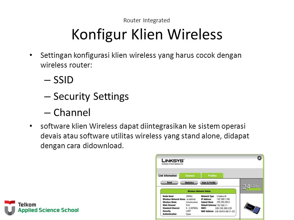 Router Integrated Konfigur Klien Wireless