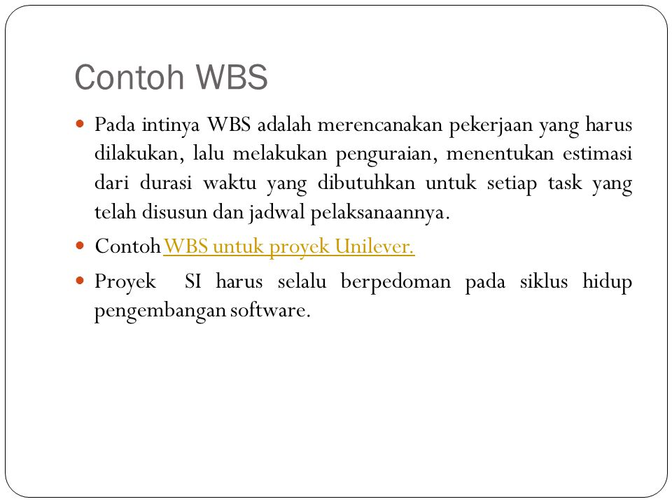 Contoh WBS