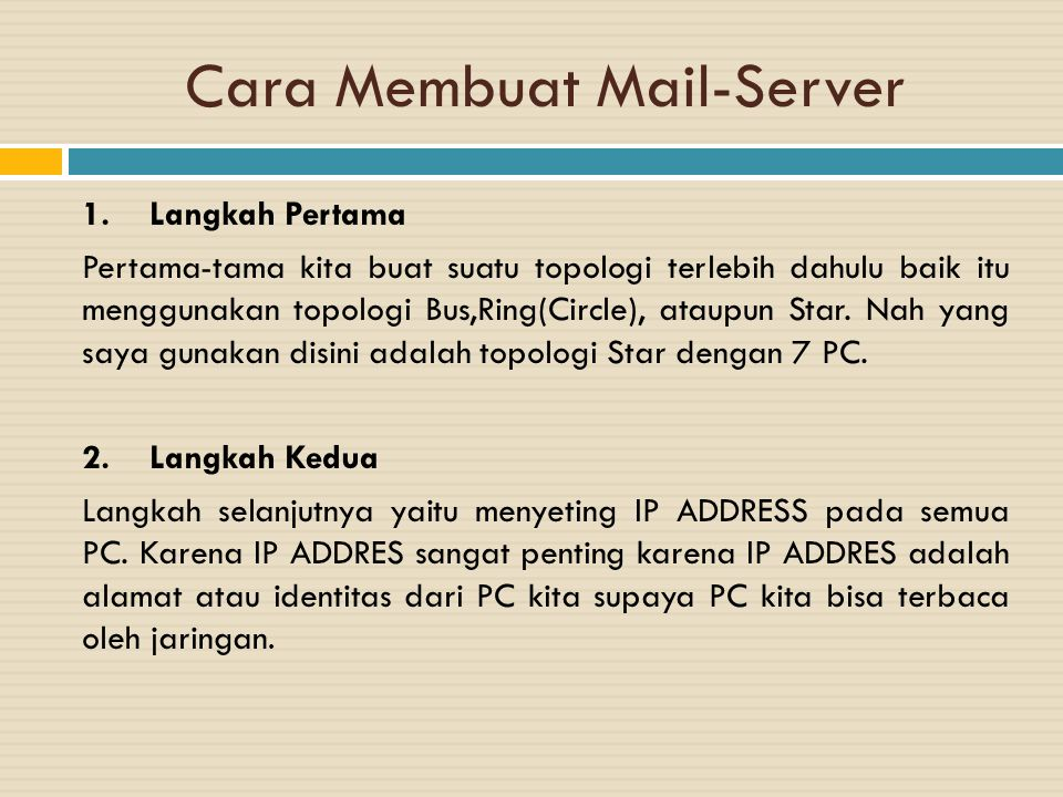Cara Membuat Mail-Server