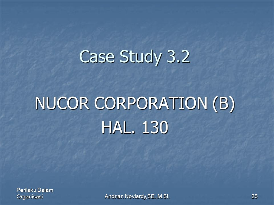 NUCOR CORPORATION (B) HAL. 130