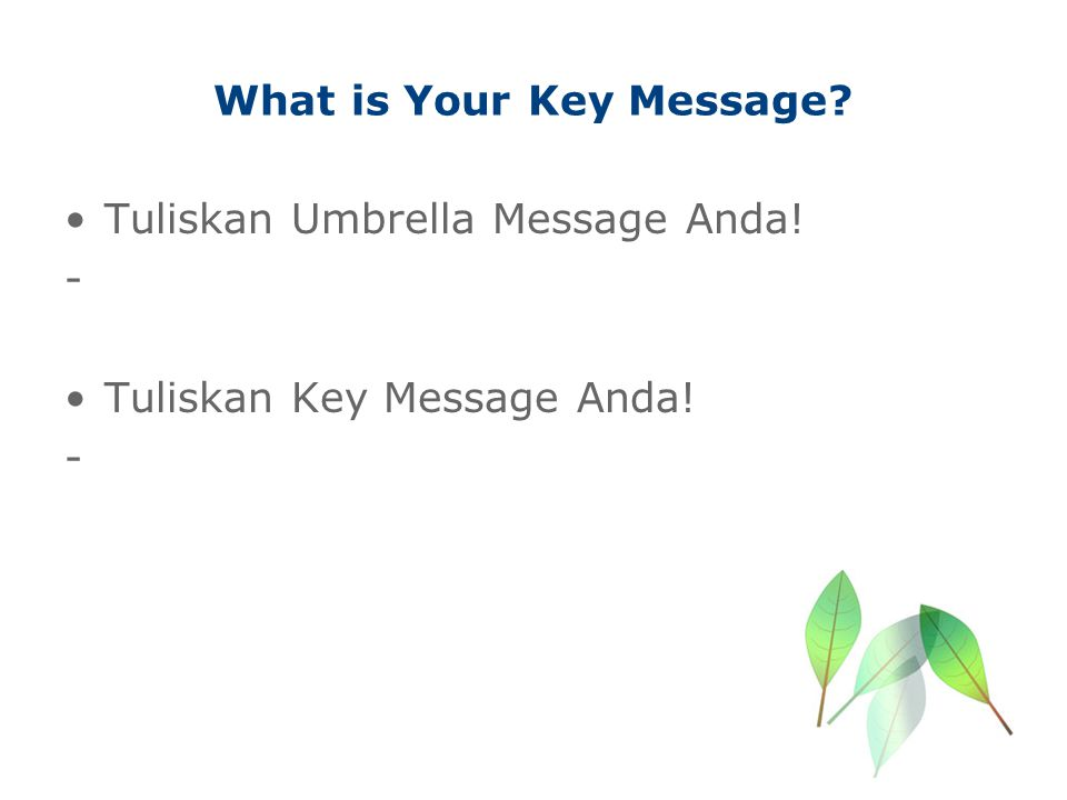 What is Your Key Message