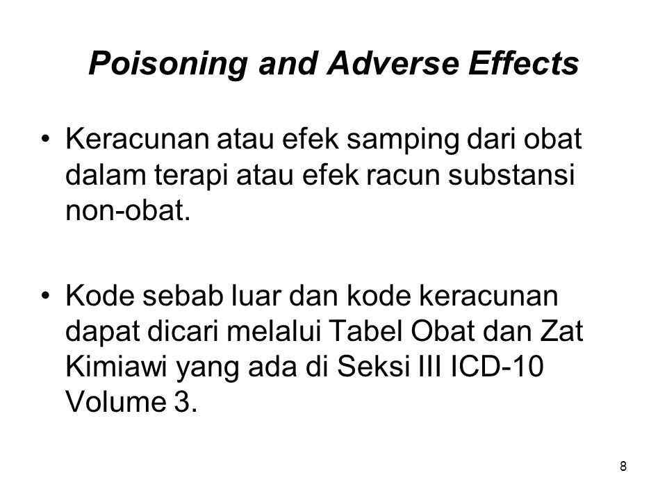 Poisoning and Adverse Effects