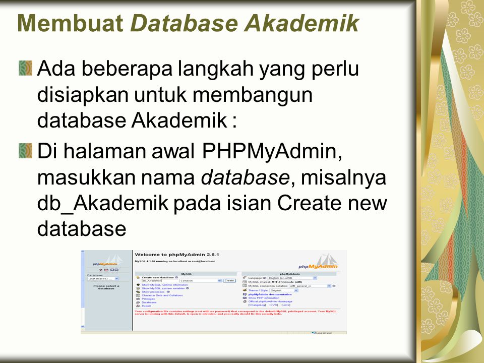 Membuat Database Akademik