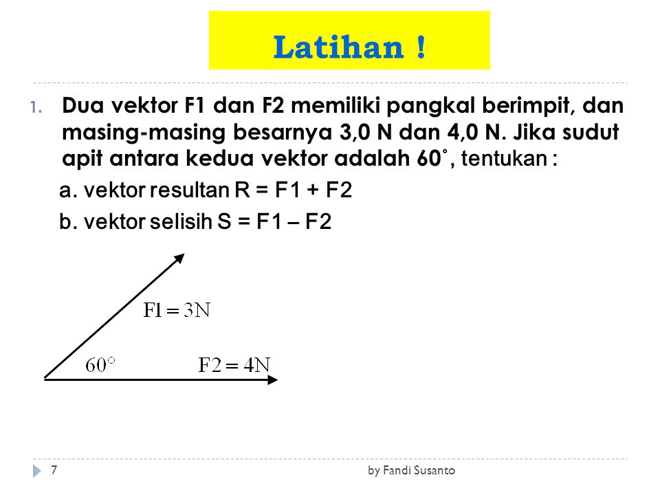 Vektor Vector By Fandi Susanto Ppt Download