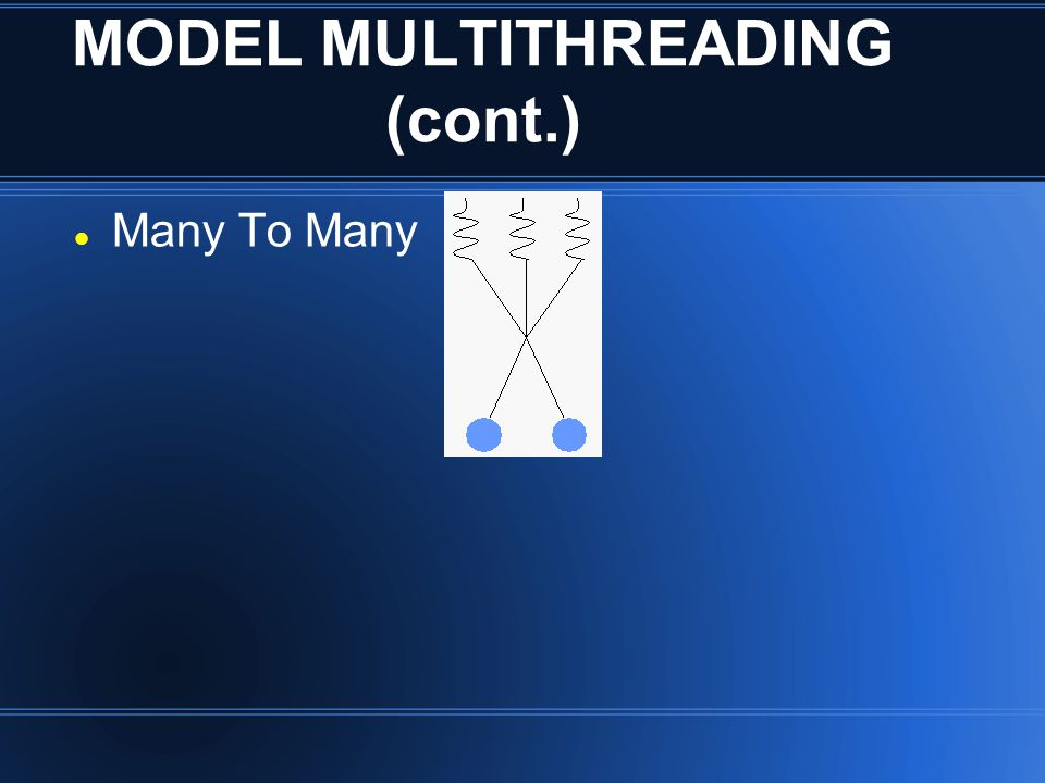 MODEL MULTITHREADING (cont.)
