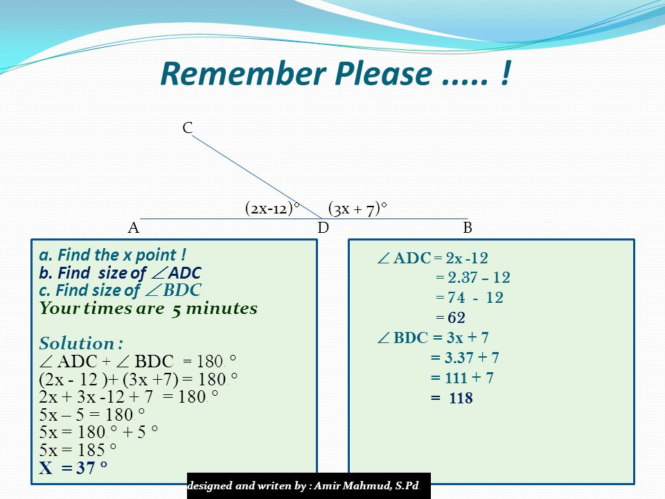 Remember Please ..... ! a. Find the x point ! b. Find size of  ADC