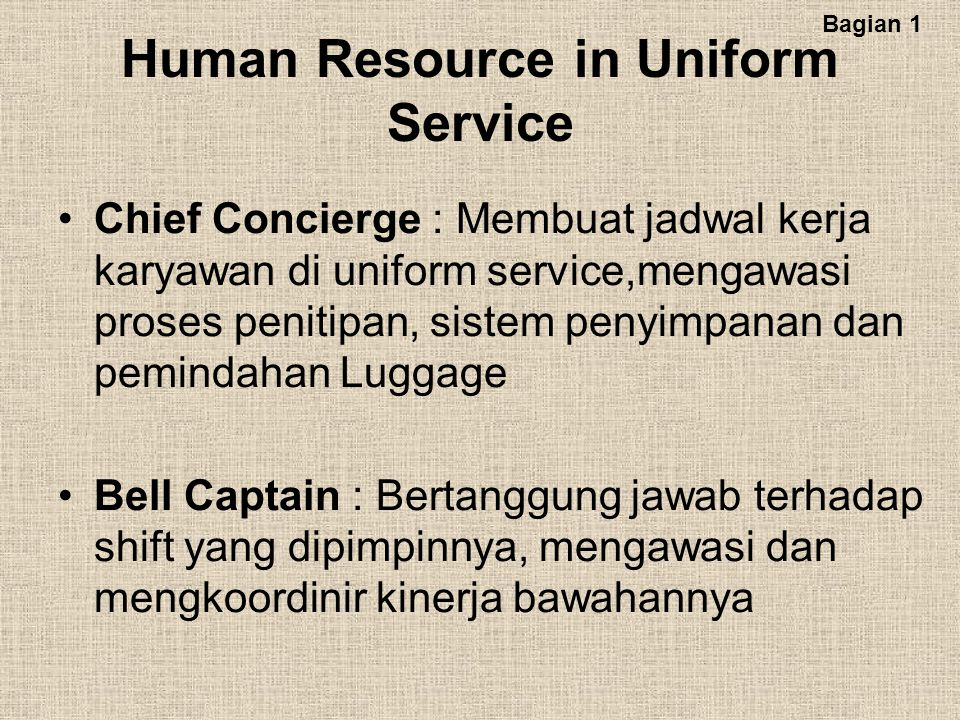 Human Resource in Uniform Service