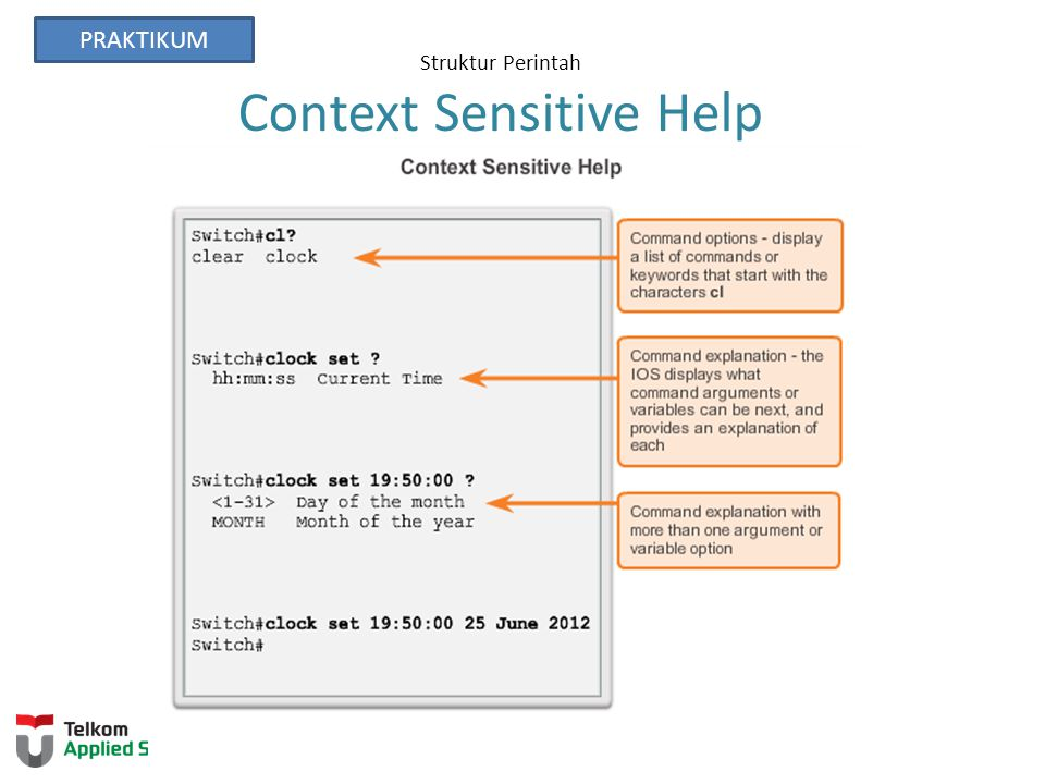 Struktur Perintah Context Sensitive Help
