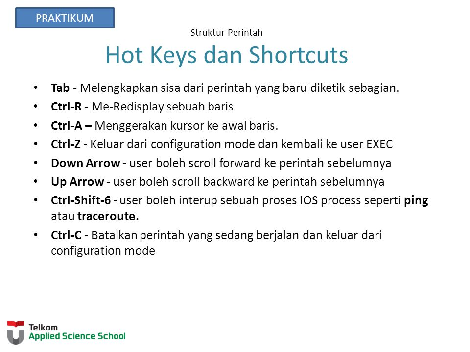 Struktur Perintah Hot Keys dan Shortcuts