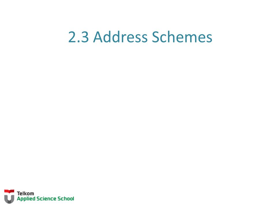 2.3 Address Schemes 2.2.3 Hostnames