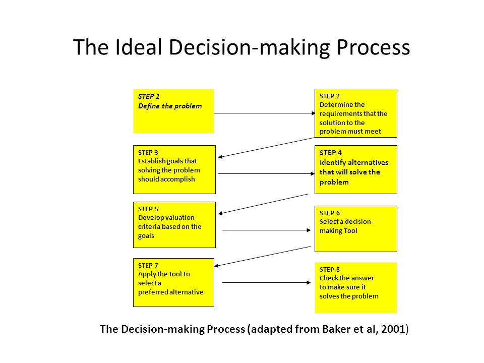 The Ideal Decision-making Process