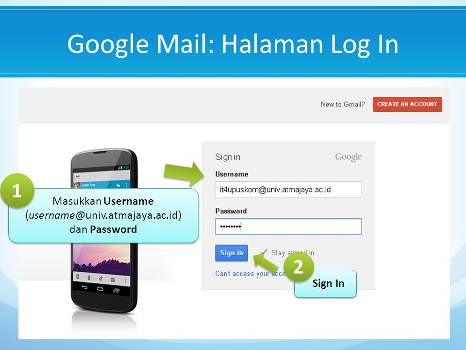 Google Mail: Halaman Log In