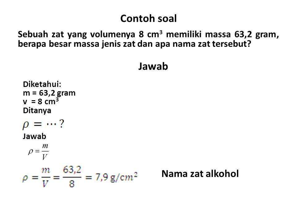 Contoh+soal+Jawab+Nama+zat+alkohol - Ppt Massa Jenis Smp Kelas 7