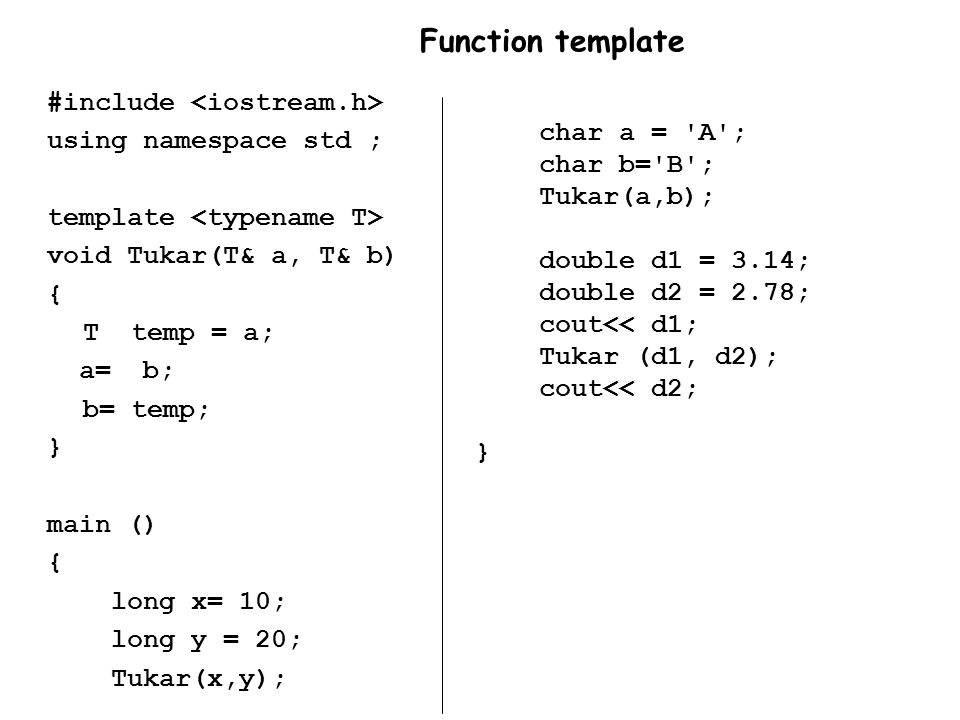 Function template