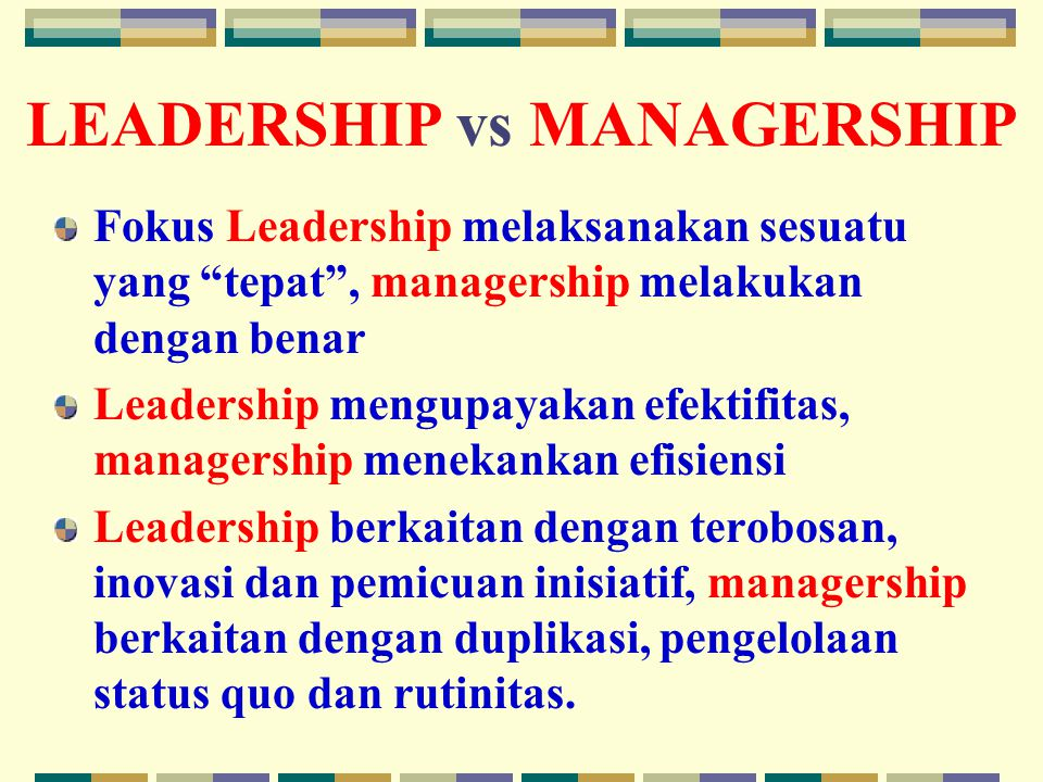LEADERSHIP vs MANAGERSHIP