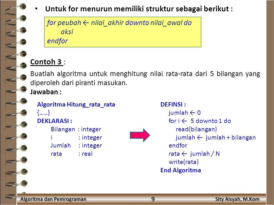 Pertemuan 6 Algoritma Presented By Sity Aisyah M Kom Ppt Download