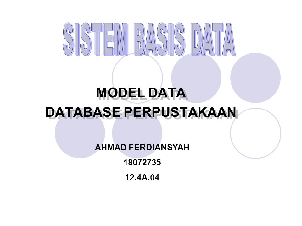 MODEL DATA DATABASE PERPUSTAKAAN