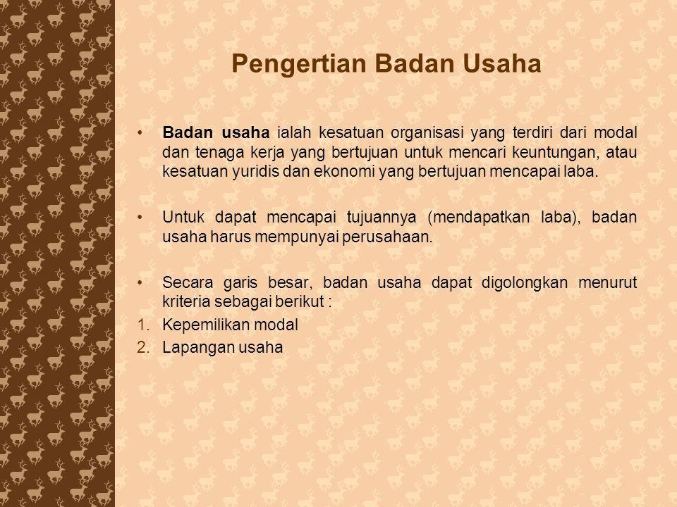 Bab 8 Badan Usaha Dalam Perekonomian Indonesia Ppt Download