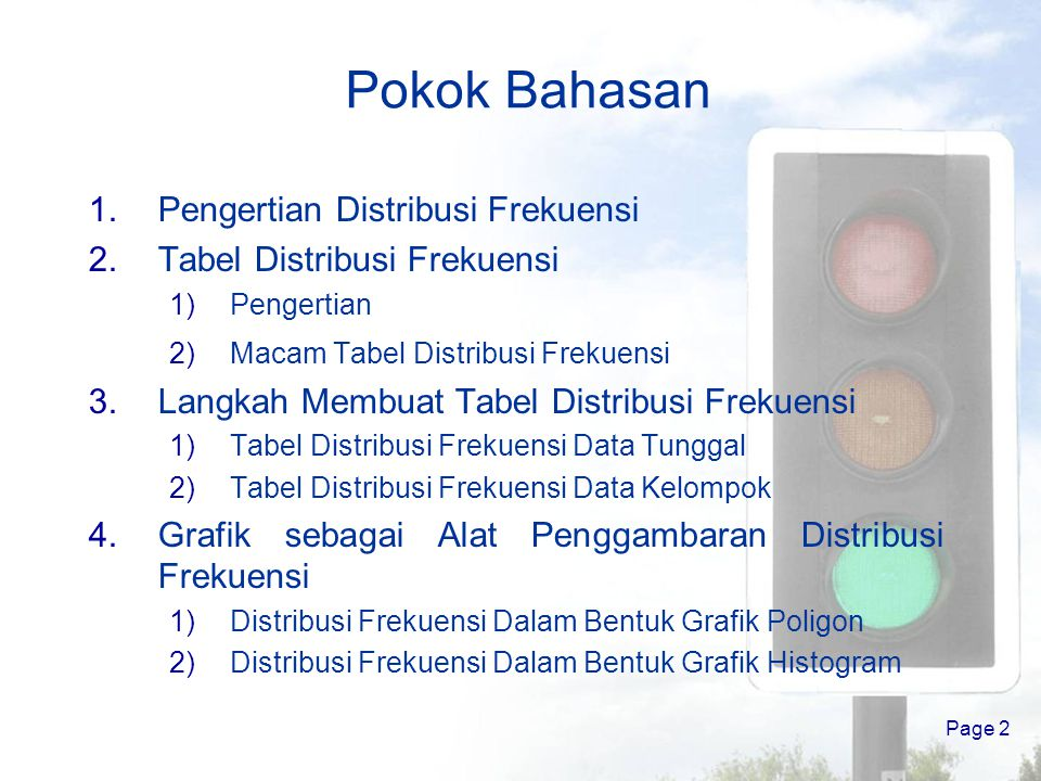 Distribusi frekuensi by raharjo ppt download 2 pokok bahasan pengertian distribusi frekuensi ccuart Images