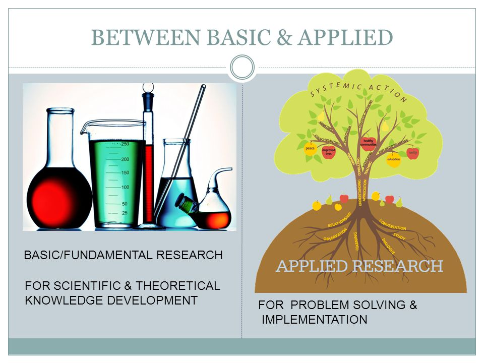 BETWEEN BASIC & APPLIED