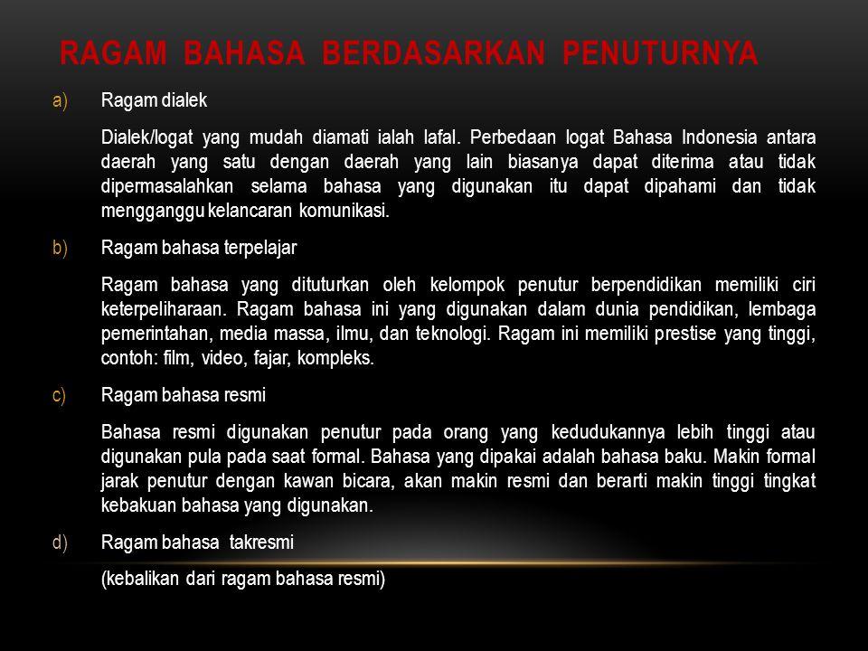Pertemuan Ii Iii Dasar Dasar Jenis Tulisan Dan Ragam Bahasa Indonesia Tim Pengampuh M K Ppt Download