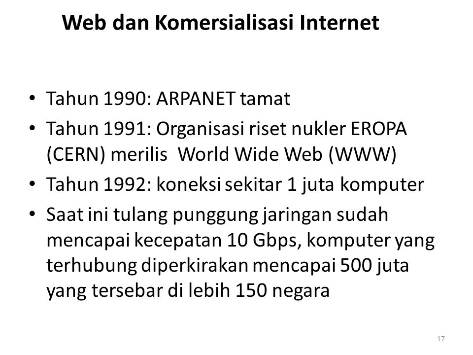 Web dan Komersialisasi Internet