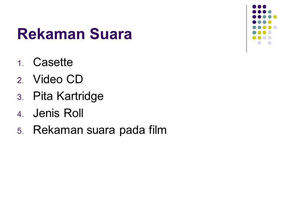 Rekaman Suara Casette Video CD Pita Kartridge Jenis Roll