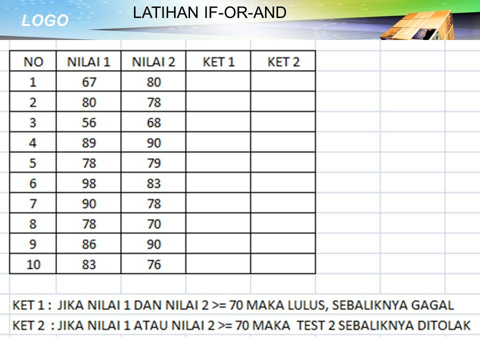 LATIHAN IF-OR-AND