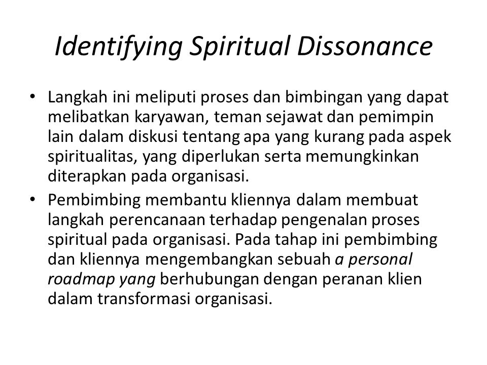 Identifying Spiritual Dissonance