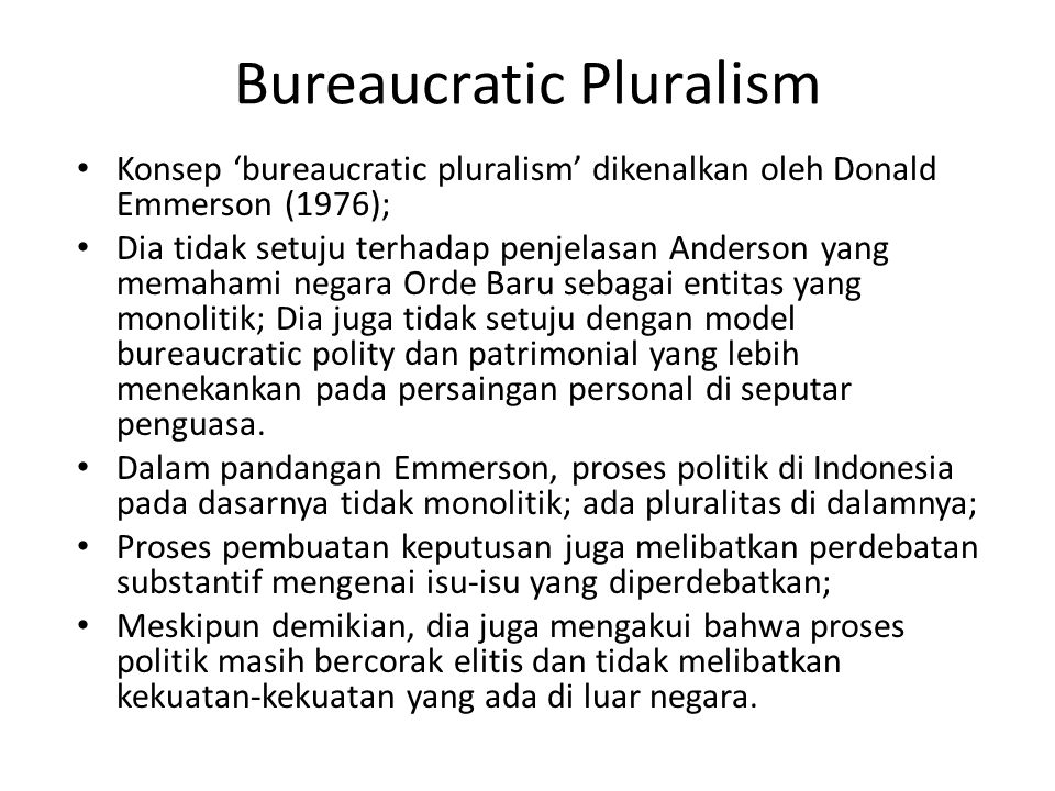 Bureaucratic Pluralism