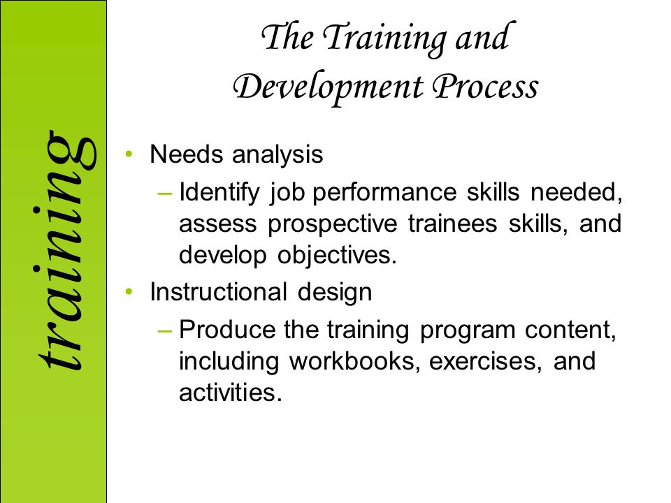The Training and Development Process